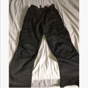Pants - Black Cargo Adjustable Pants